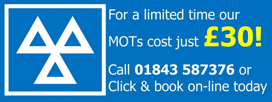 <blockquote><h3>New Year MOT Offer</h3>Mon-Sat - Book on-line today!</blockquote>